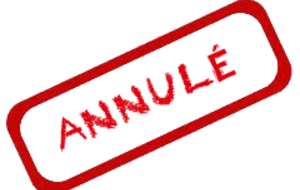 Annulation Tournoi simple